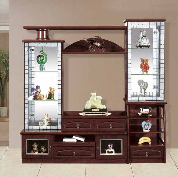 India market living room furniture lcd tv wall units 808 for Cupboard designs for living room in india