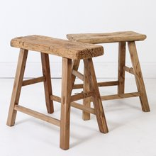Antique rustic natural recycled workers stools for wholesale Shandong