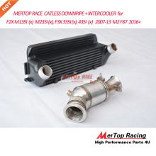 MERTOP RACE CATLESS DOWNPIPE +Intercooler for F20 F21 M135I (X) , F22 M235I(X), F30 F31 F34 335I , 435I 2007-13 M2 F87 2016+