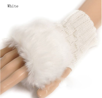 cheap Women Imitation rabbit hair + Knitted Wool knit gloves