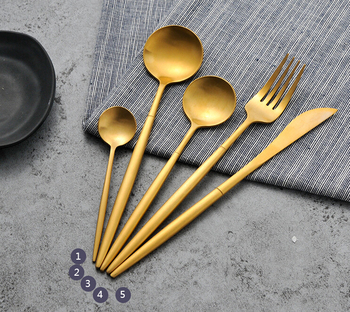 18/10 304 stainless steel Portugal cutipol flatware vintage matte gold cutlery set