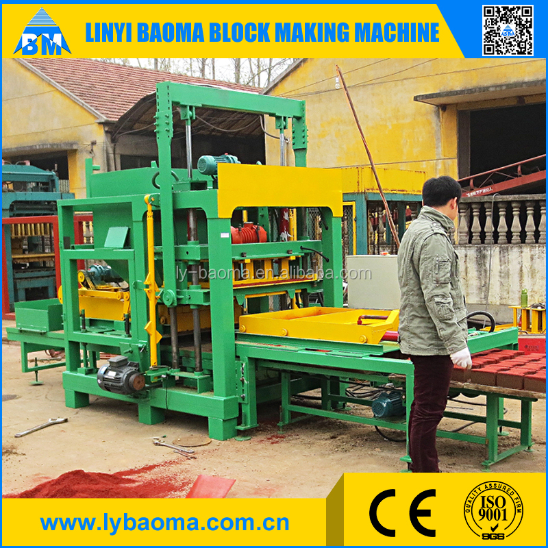 concrete paver block maker machine