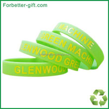 Free Shipping silk screen silicone wristbands