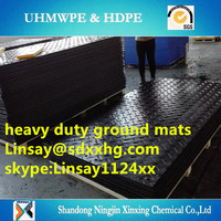 2.4m x 1.2m Temporary Road Mats,Polyethylene temporary roadway/ground protection covering mats