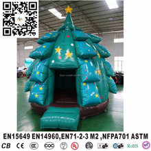New holiday holiday living christmas trees inflatable jumping castle bouncer
