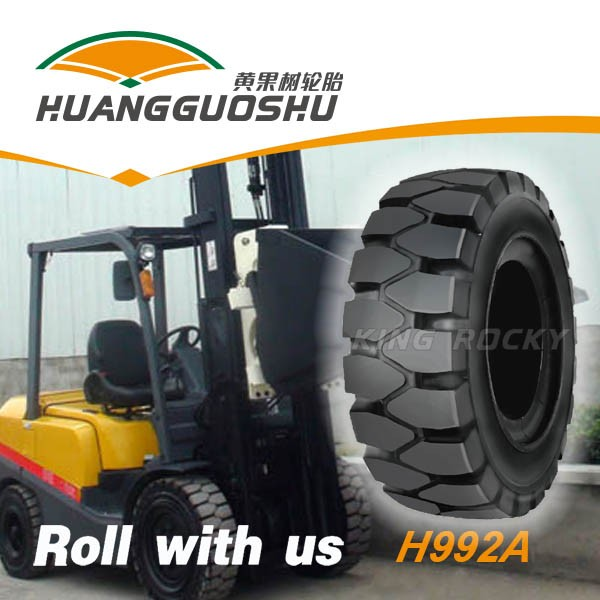 6.00-9 solid rubber forklift truck tire rim with 4.0
