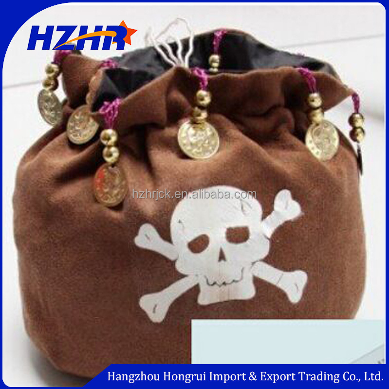Pirate bags Captain Hook gift bags wallet halloween gift basket decorations