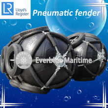 Pneumatic rubber marine fender D2.5mxL4 with aircraft tyre