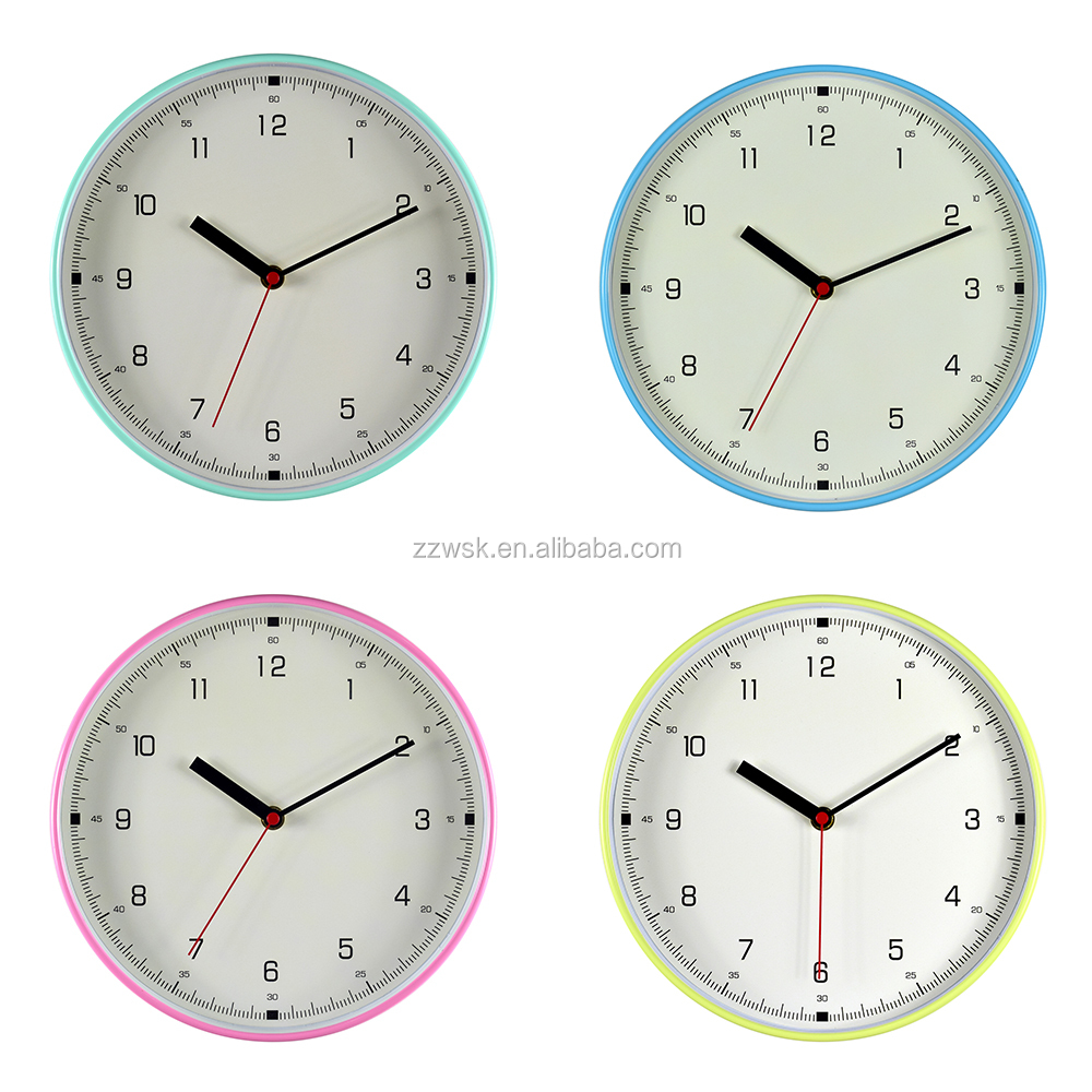 2017 new design clock and wall clock with Tiffany color in simple moden dial