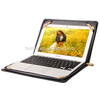 Leather Sleeve for Macbook Air, Leather bag with waterfproof zipper form Guangzhou factory
