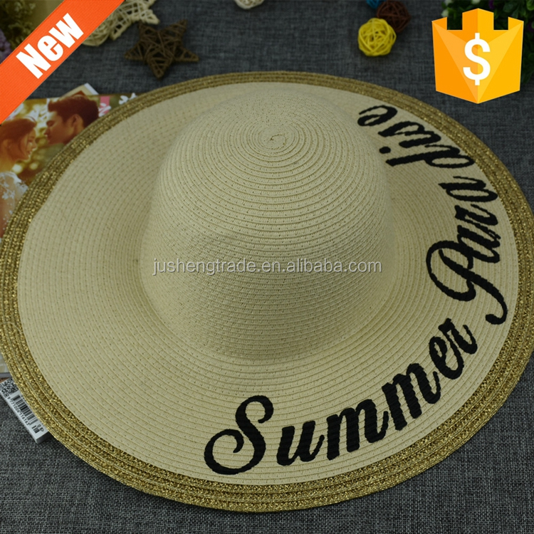 Wholesale new fashion and elegant peru straw hats for yong ladies