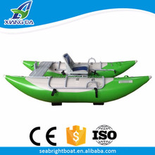 PVC Hull Material and Aluminum Frame Durable One Man Cataraft Inflatable Pontoon Raft for Sale