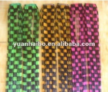 "Stock!!!18"" multicolor , Synthetic ,Clip-in yaki hair extensions"