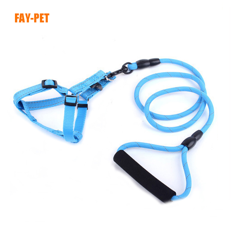 Solid reflective climbing rope dog leash,truelove pet dog leash harness