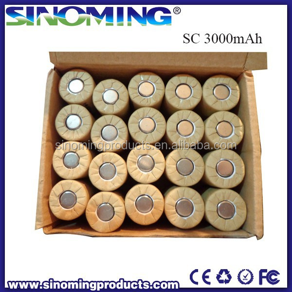 HJL Battery NIMH SC 3000mAh 1.2V rechargable battery best price NIMH battery supplier