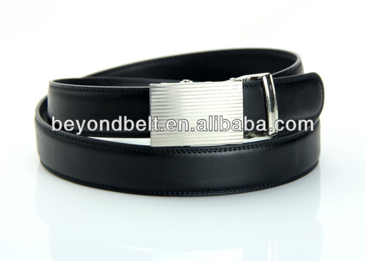 Beyond Slide Belts Men's Bar Striped Leather Belt - Custom Fit