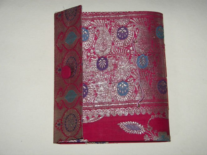 Brocade Fabric Covered Photo Album