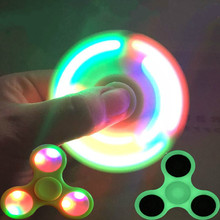 New gadgets china Relieve Stress Fidget hand spinner toys Led Silicone Finger Gyro