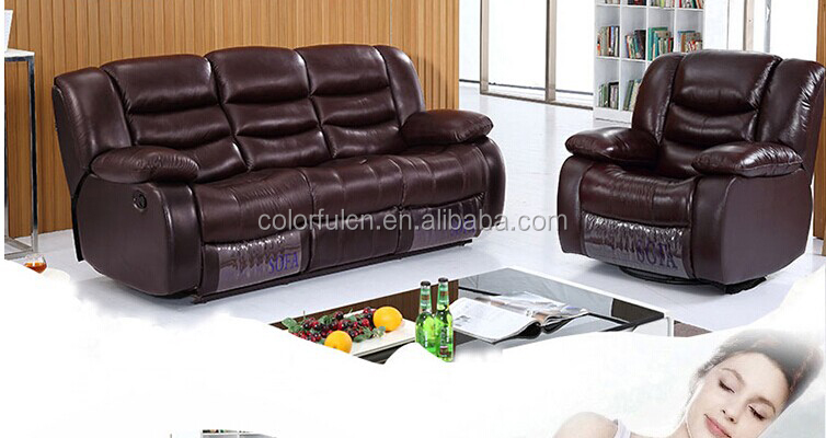 Utility living room sofa cinema sofa leather sofa set genuine LS-627