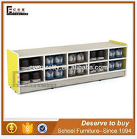 Kids wooden toy storage, china market children cabinets, large shoe storage cabinets