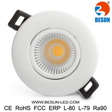 Energy Saving Dimmable 7W Recessed Ceiling LED Bulb Spot Light Fixture 7 watts COB LED Downlight Flood lighting Lamp Warm white