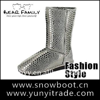 2014 fashion women's snow boots winter popular cheap boots genuine leather lady boots