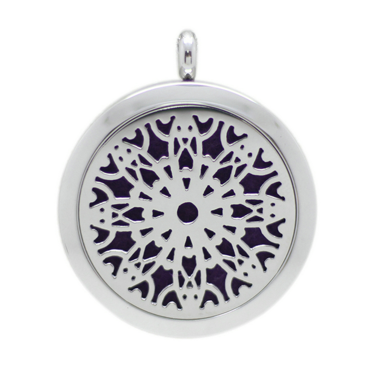 Jenia Snow Stainless Steel Aromatherapy Essential Oil Diffuser Custom Meaningful Pendant Necklace Wholesale Charm Locket