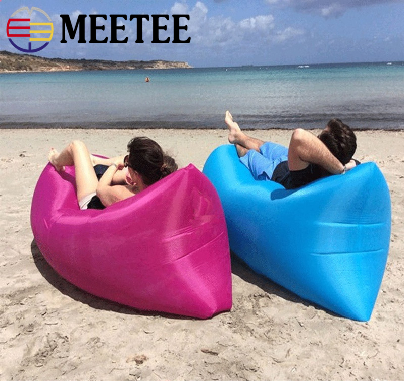 Portable inflatable sofa outdoors single lazy bed bean bag