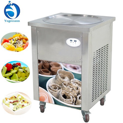 Thailand type Fried ice cream machine food cart ice cream roller machine