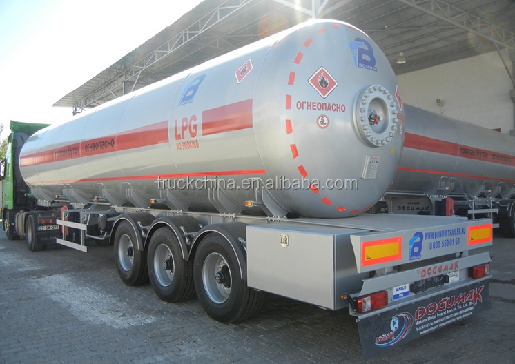 gas delivery road tank semi trailer lpg tanker trailer for United Arab Emirates