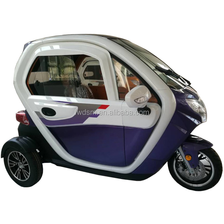 Fashion 1000w motor cabin three wheel motorcycle