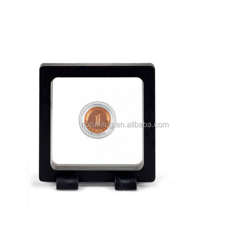 Black ABS Frame Membrane Commemorative Coin Display Box