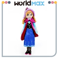High Quality Cartoon Frozen Anna Baby Plush Toy Doll
