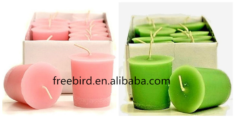 Wholesale Pillar Romantic Gift Candle with Pink Wax