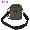 Vintage small simple men's bag two sided shoulder bag canvas messenger bag for men with low price