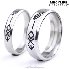MECYLIFE Stainless Steel Old Style Ring EXO Memorial Ring