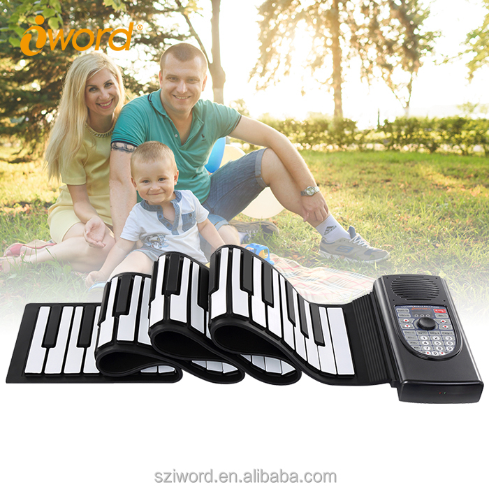 iWord Roll-Up Soft Keyboard Mini Piano MIDI Folding Electronic Piano For Sale