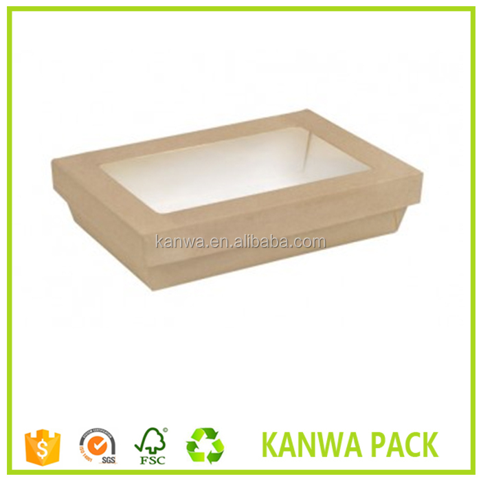 Food grade container recycle paper lunch box with window