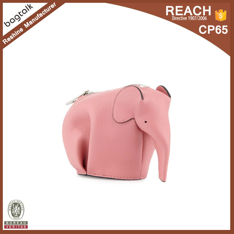 CP001 Wholesale Girls Cute Animal Elephant Shaped Leather Coin Purse