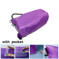China factory directly sale fashionable Fast filling waterproof inflatable sleeping bags/ inflatable laybags/lazy sofa
