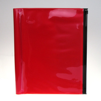 custom color plastic book cover PVC waterproof zipper lock book cover with pocket