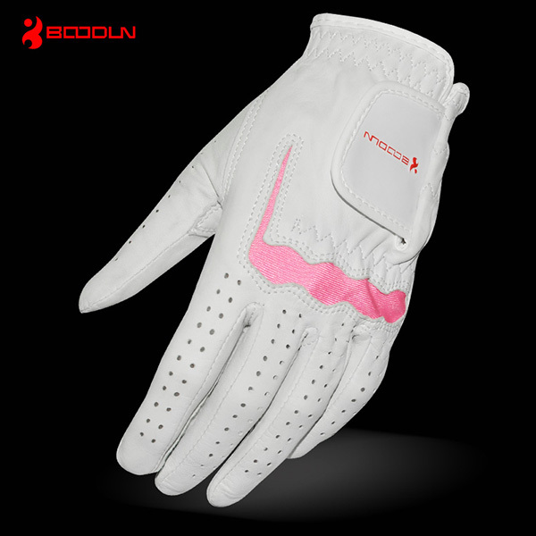 One pairs sheep skin washable promotion golf gloves for mens