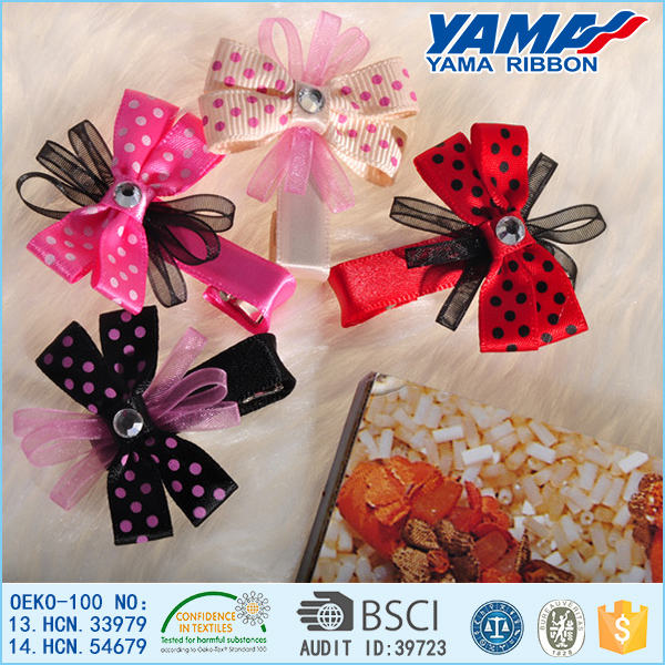 Handmade Lovely Ribbon Hairpins For Students