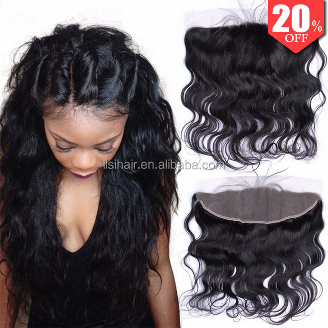 8A Grade Raw Indian Remy Hair Full Frontal Closure 13x4 Ear to Ear Lace Frontals with Baby Hair Indian