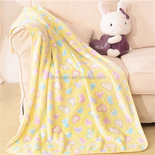 Hot selling customized design cute baby blanket cheap Polyester Baby Blanket