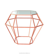 Geometry Diamond shape Coffee Vase Small Table for home decor