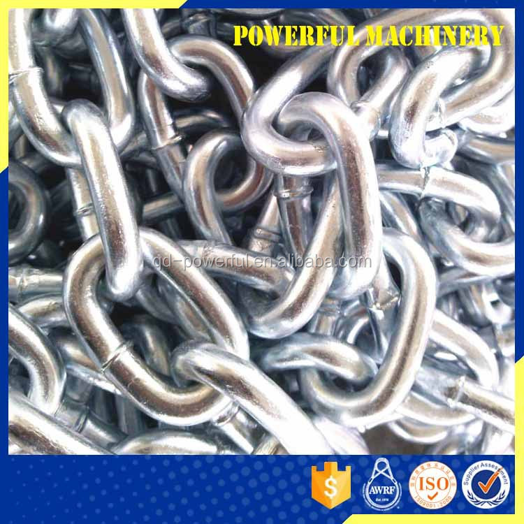 Factory Supply U.K. Type HDG Short Link Alloy Steel Conveyor Marine Standard Chain