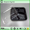 Microwave safe disposable rectangular plastic food tray with lid