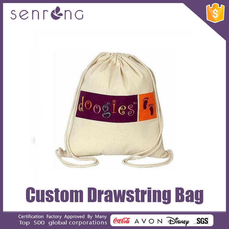 Cotton Drawstring Underwear Bags , Drawstring Bags For Apple