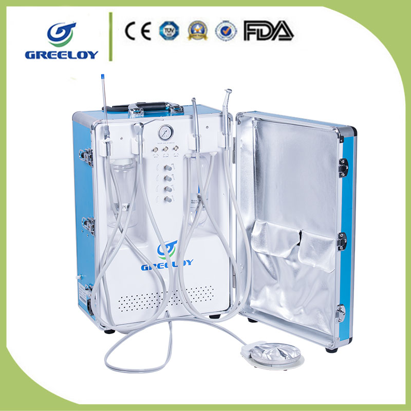mobile portable dental unit for pit and fissure sealant